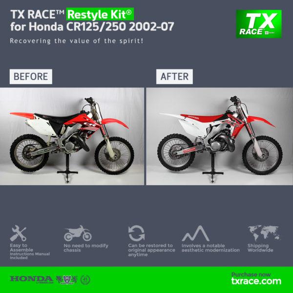 TX RACE™ Restyle Plastic Kit® for Honda CR125/250 2002-2007