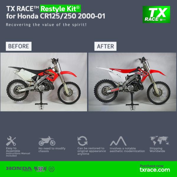 TX RACE™ Restyle Plastic Kit® for Honda CR125/250 2000-2001
