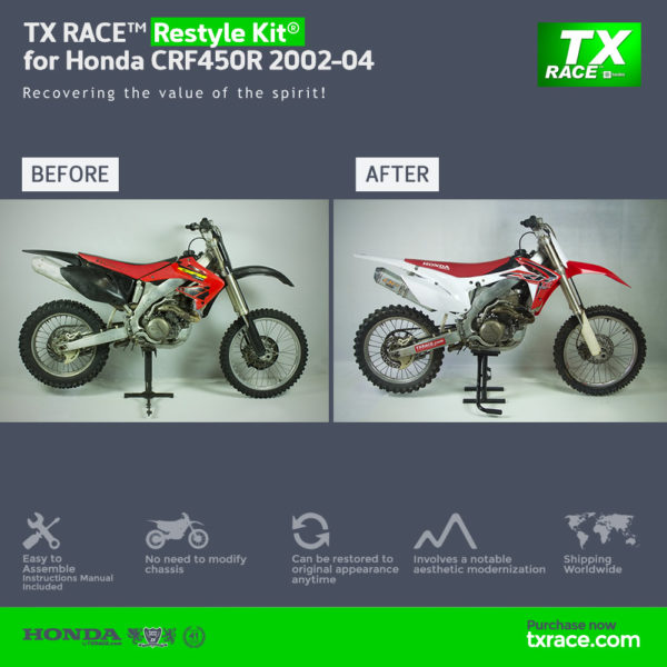 TX RACE™ Restyle Plastic Kit® for Honda CRF450R 2002-2004