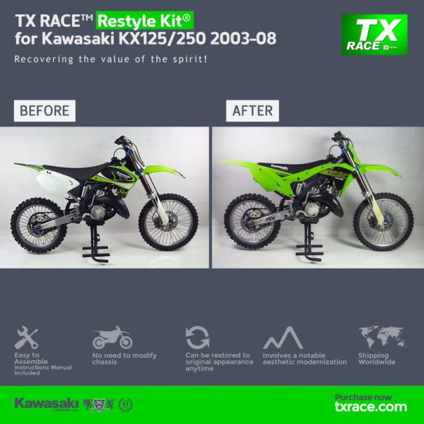 TX RACE™ Restyle Kit® for Kawasaki KX125/250 2003-2008